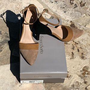 Tri-color Franco Sarto heels